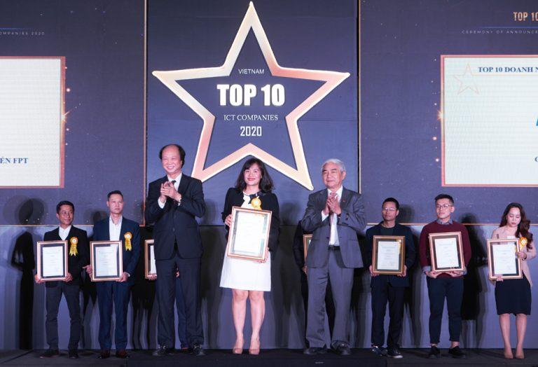 FPT Online giành cú đúp giải thưởng Top 10 Doanh nghiệp CNTT 2020